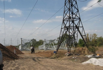 Будівництво високовольтних ліній електропередач