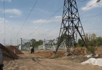 Строительство высоковольтных линий электропередач